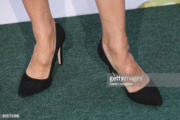 Actress Rachael Leigh Cook shoe detail attends the Hallmark Channel and Hallmark Movies and Mysteries 2017 Summer TCA Tour on July 27 2017 in Beverly...