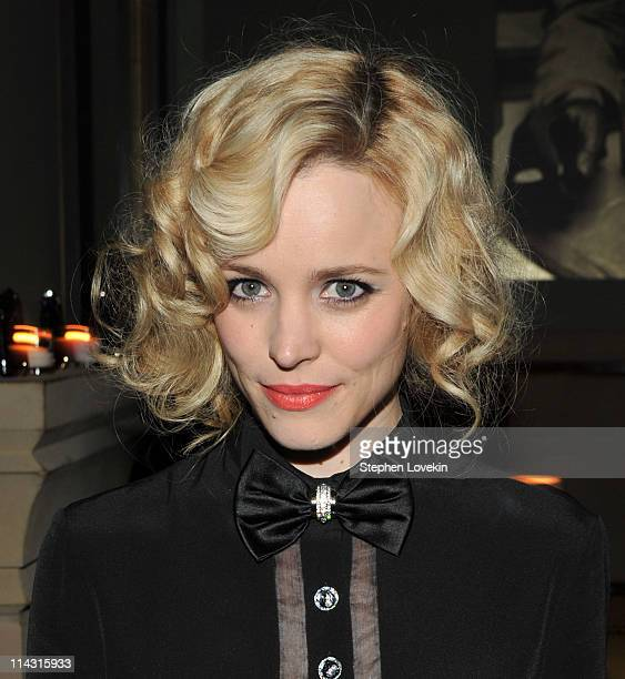 Actress Rachael Mcadams attends The Cinema Society Thierry Mugler screening after party for 'Midnight in Paris' at the Soho Grand Hotel Club Room on...