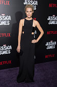 Actress Rachael Taylor attends the 'Jessica Jones' series premiere at Regal EWalk on November 17 2015 in New York City