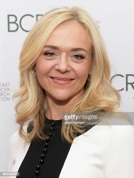 Actress Rachel Bay Jones arrives at the Breast Cancer Research Foundation New York Symposium and Awards Luncheon at New York Hilton on October 19...