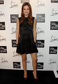 Actress Rachel Bilson arrives at 'Saks Fifth Avenue Welcomes Christian Louboutin' at S Bar on October 17 2007 in Hollywood California