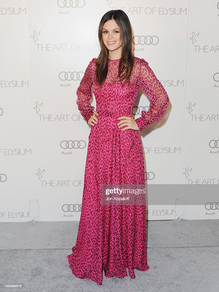 Actress <a gi-track='captionPersonalityLinkClicked' href=/galleries/search?phrase=Rachel+Bilson&family=editorial&specificpeople=202655 ng-click='$event.stopPropagation()'>Rachel Bilson</a> arrives at the Art Of Elysium's 6th Annual Heaven Gala on January 12, 2013 in Los Angeles, California.