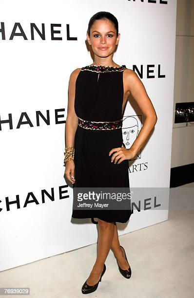 Actress Rachel Bilson arrives at the CHANEL and PS Arts Event at the Chanel Beverly Hills Boutique on September 20 2007 in Beverly Hills California