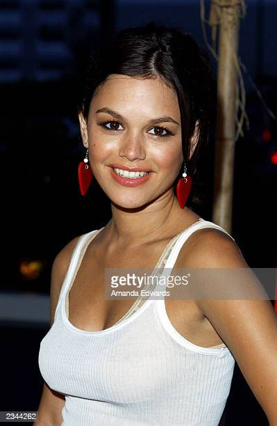 Actress Rachel Bilson arrives at 'The OC' kickoff party at the Viceroy on July 29 2003 in Santa Monica California