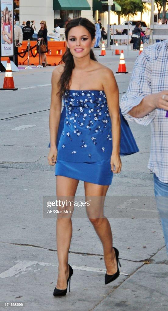 Actress Rachel Bilson as seen on July 23, 2013 in Los Angeles, California.