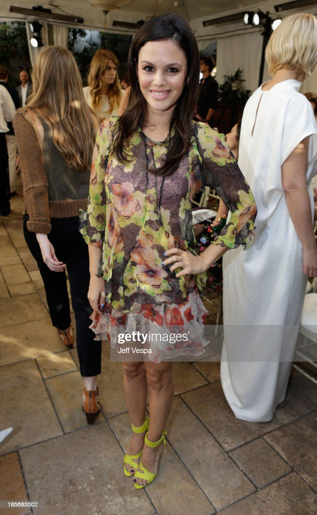 Actress <a gi-track='captionPersonalityLinkClicked' href=/galleries/search?phrase=Rachel+Bilson&family=editorial&specificpeople=202655 ng-click='$event.stopPropagation()'>Rachel Bilson</a> attends the 2013 CFDA/Vogue Fashion Fund Event Presented by thecorner.com and Supported by Audi, Living Proof, and MAC Cosmetics at the Chateau Marmont on October 23, 2013 in Los Angeles, California.