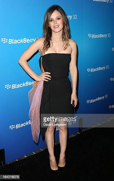 Actress Rachel Bilson attends the BlackBerry Z10 Smartphone launch party at Cecconi's Restaurant on March 20 2013 in Los Angeles California
