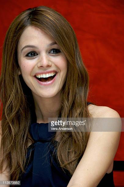 Actress Rachel Bilson attends the 'Jumper' press conference at the RitzCarlton Hotel on February 11 2008 in New York City