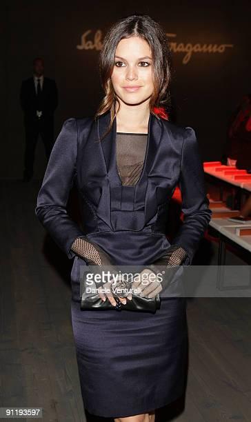 Actress Rachel Bilson attends the Salvatore Ferragamo show as part of Milan Womenswear Fashion Week Spring/Summer 2010 at on September 27 2009 in...