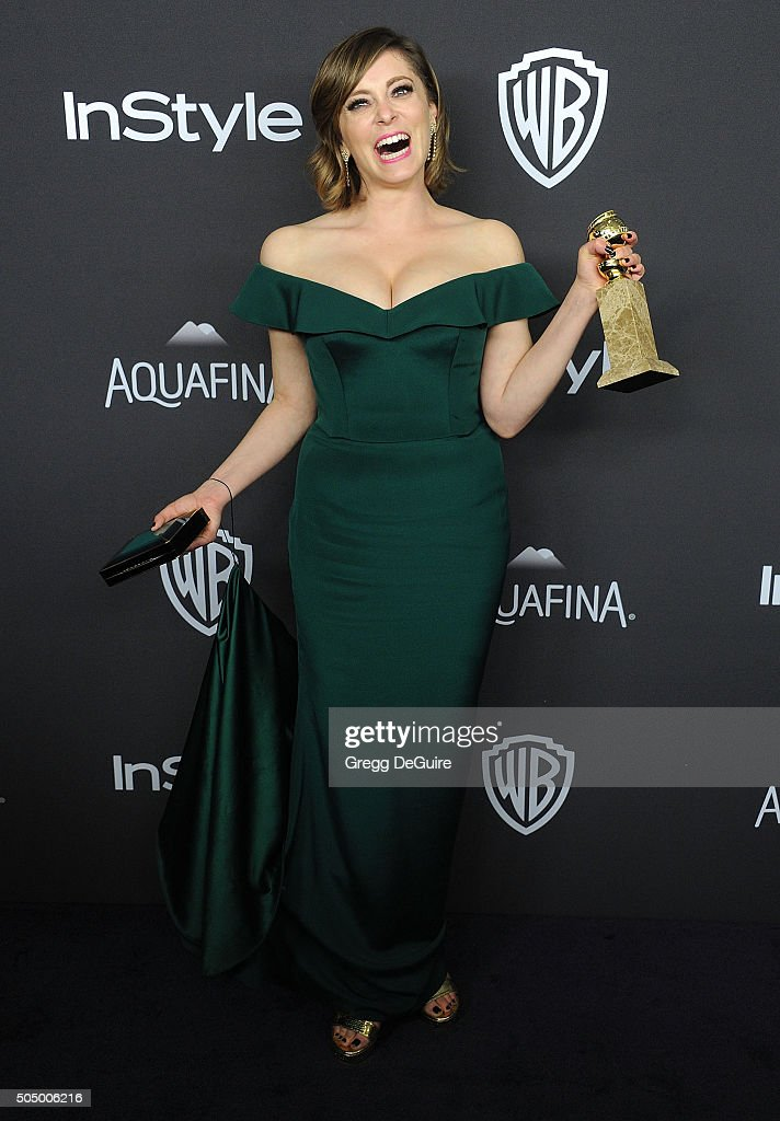 Actress Rachel Bloom arrives at the 2016 InStyle And Warner Bros 73rd Annual Golden Globe Awards PostParty at The Beverly Hilton Hotel on January 10...