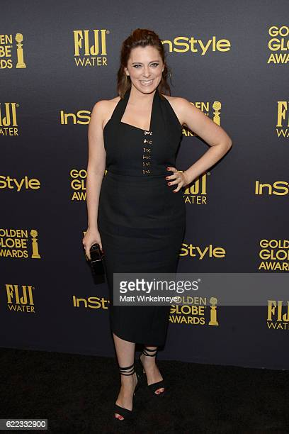 Actress Rachel Bloom arrives at the Hollywood Foreign Press Association and InStyle celebrate the 2017 Golden Globe Award Season at Catch LA on...
