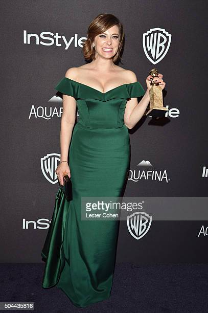 Actress Rachel Bloom attends InStyle and Warner Bros 73rd Annual Golden Globe Awards PostParty at The Beverly Hilton Hotel on January 10 2016 in...