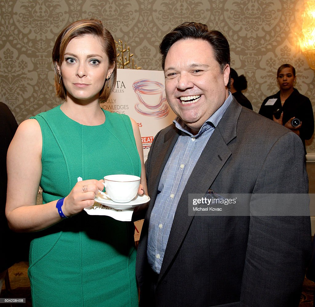 Actress Rachel Bloom (L) attends the BAFTA Los Angeles Awards Season Tea at Four Seasons Hotel Los Angeles at Beverly Hills on January 9, 2016 in Los Angeles, California.