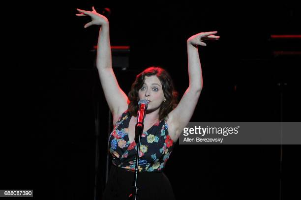 Actress Rachel Bloom performs onstage during the Concert for America Stand Up Sing Out at Royce Hall on May 24 2017 in Los Angeles California