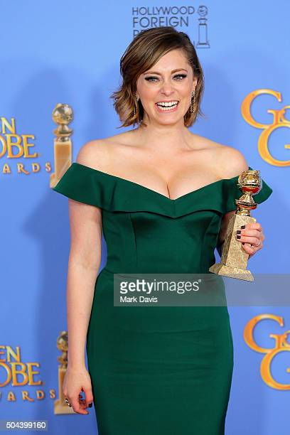 Actress Rachel Bloom winner of Best Performance by an Actress in a Television Series Musical or Comedy poses in the press room during the 73rd Annual...