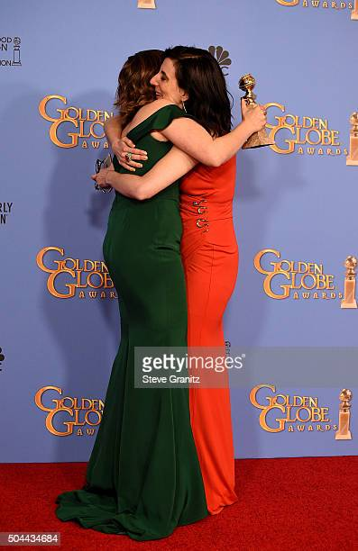 Actress Rachel Bloom winner of the award for Best Performance by an Actress in a Television Series Musical or Comedy for 'Crazy ExGirlfriend' and...