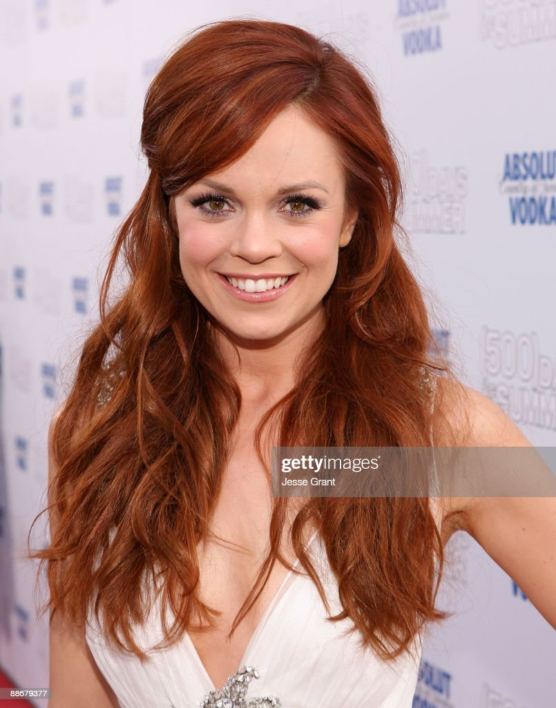 Actress Rachel Boston arrives on the red carpet of the Los Angeles premiere of ' Days Of Summer' at the Egyptian Theatre on June 24 2009 in Hollywood...