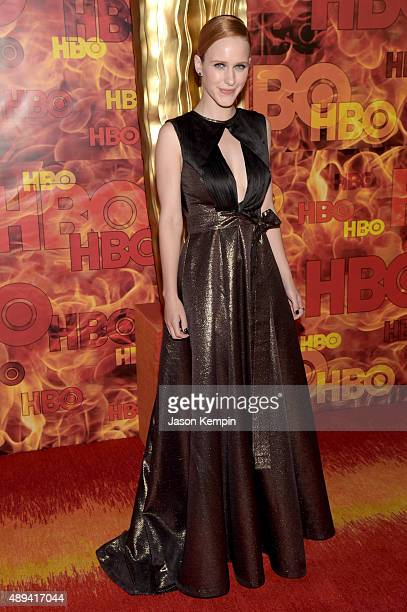 Actress Rachel Brosnahan attends HBO's Official 2015 Emmy After Party at The Plaza at the Pacific Design Center on September 20 2015 in Los Angeles...