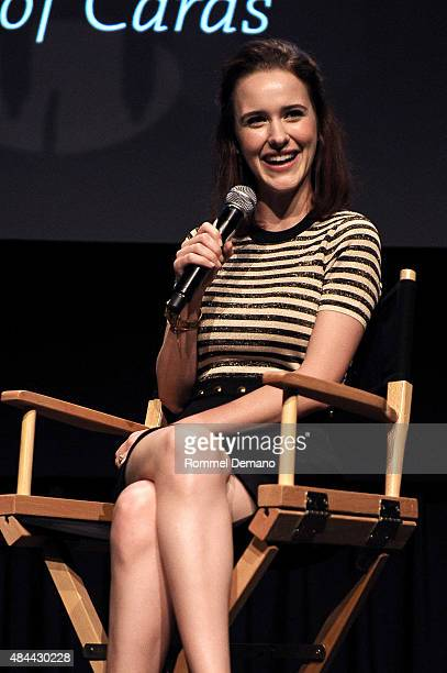 Actress Rachel Brosnahan attends SAG Foundation and Backstage Conversations Emmy Series with Rachel Brosnahan of 'House Of Cards' at NYIT Auditorium...