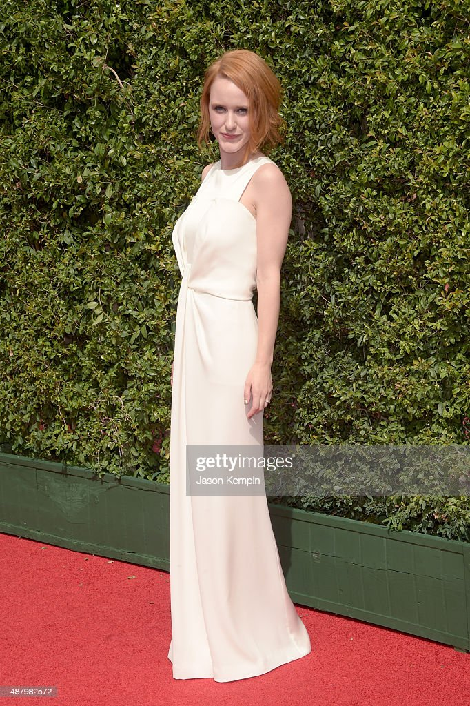 Actress Rachel Brosnahan attends the 2015 Creative Arts Emmy Awards at Microsoft Theater on September 12, 2015 in Los Angeles, California.