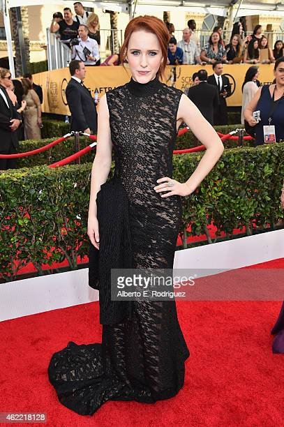 Actress Rachel Brosnahan attends the 21st Annual Screen Actors Guild Awards at The Shrine Auditorium on January 25 2015 in Los Angeles California