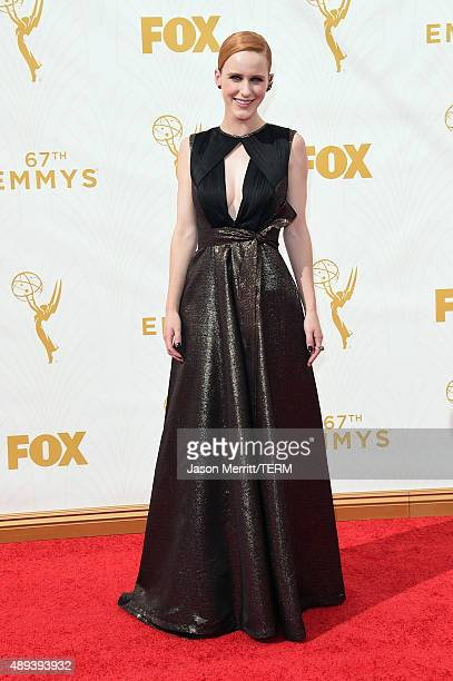 Actress Rachel Brosnahan attends the 67th Annual Primetime Emmy Awards at Microsoft Theater on September 20 2015 in Los Angeles California