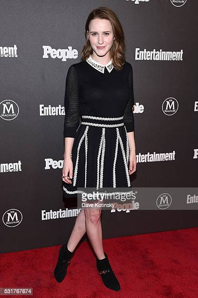 Actress Rachel Brosnahan attends the Entertainment Weekly People Upfronts party 2016 at Cedar Lake on May 16 2016 in New York City