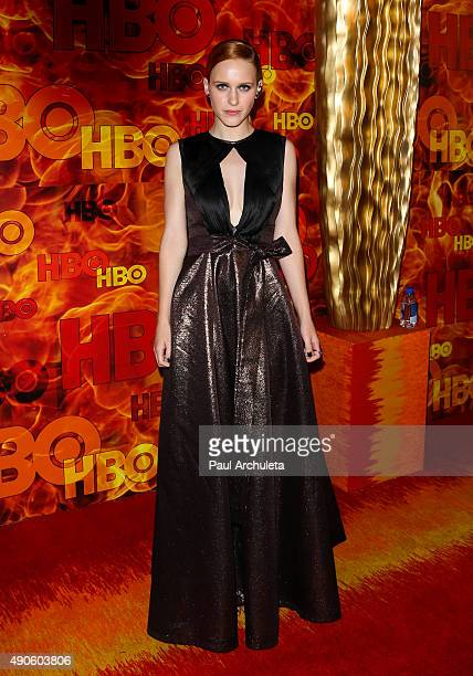 Actress Rachel Brosnahan attends the HBO's Official 2015 Emmy After Party at The Plaza at the Pacific Design Center on September 20 2015 in Los...