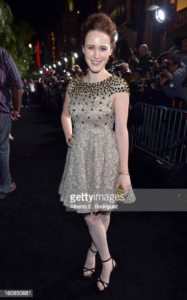 Actress Rachel Brosnahan attends the Los Angeles premiere of Warner Bros Pictures' 'Beautiful Creatures' at TCL Chinese Theatre on February 6 2013 in...