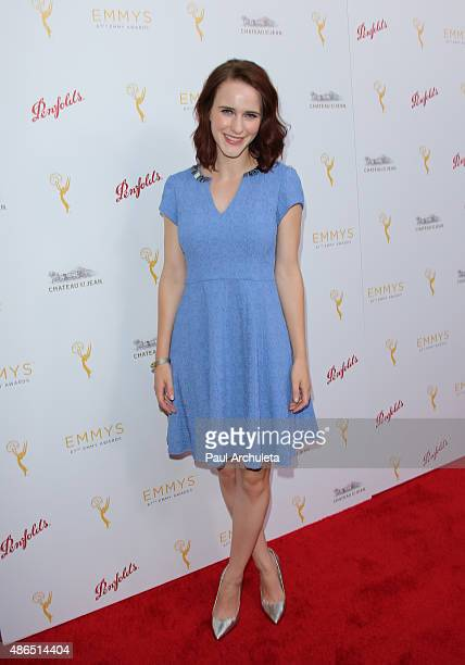 Actress Rachel Brosnahan attends the Television Academy's cocktail reception to celebrate the 67th Emmy Awards at The Montage Beverly Hills on August...