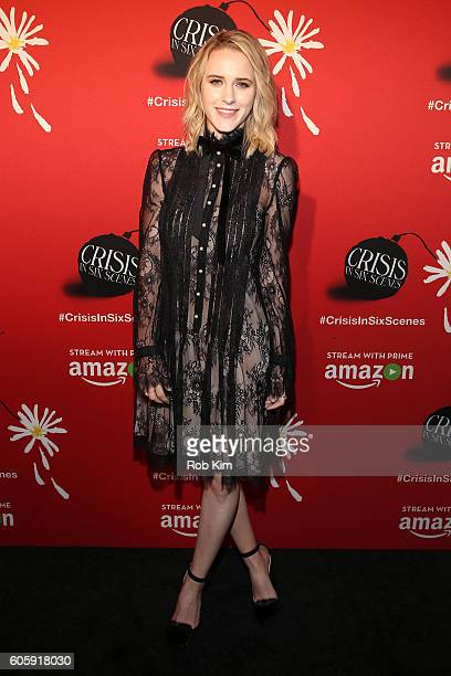 Actress Rachel Brosnahan attends the world premiere of 'Crisis in Six Scenes' at the Crosby Street Hotel on September 15 2016 in New York City