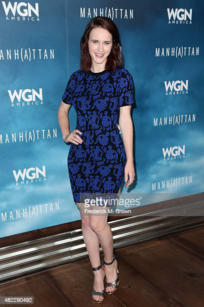 Actress Rachel Brosnahan attends WGN America's 'Manhattan' 2015 Summer TCA Tour at The Beverly Hilton Hotel on July 29 2015 in Beverly Hills...