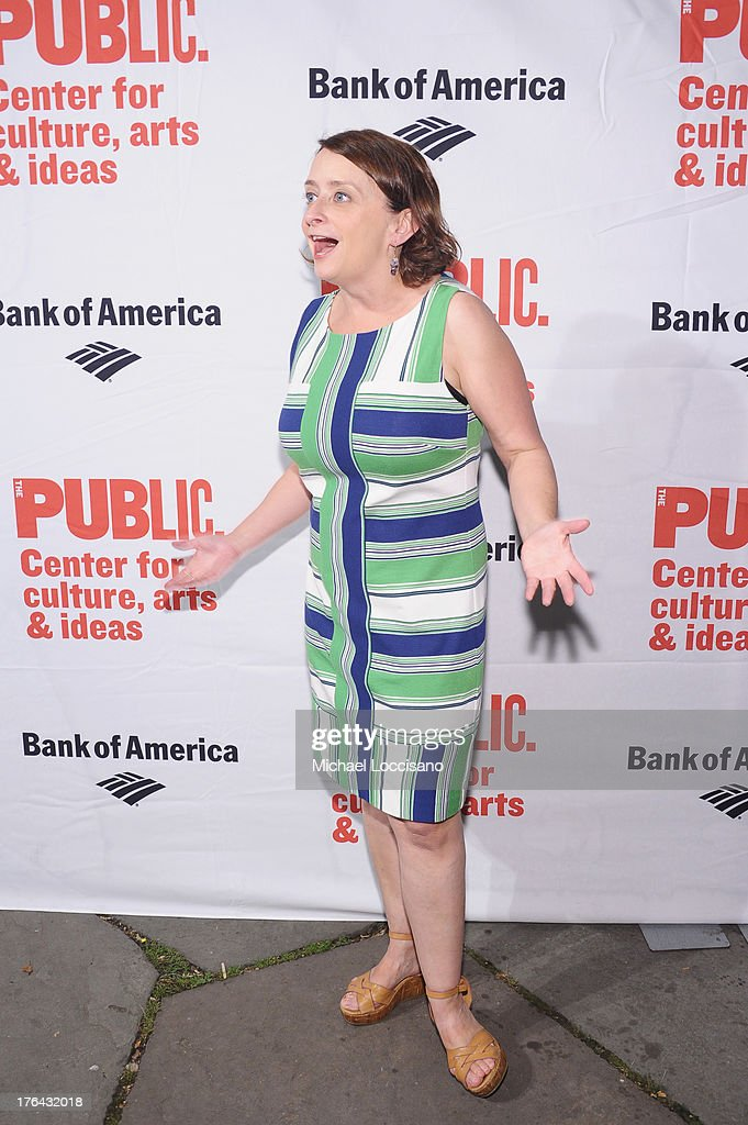 Actress <a gi-track='captionPersonalityLinkClicked' href=/galleries/search?phrase=Rachel+Dratch&family=editorial&specificpeople=209387 ng-click='$event.stopPropagation()'>Rachel Dratch</a> attends The Public Theater's 'Love's Labour's Lost' Opening Nght at Delacorte Theater on August 12, 2013 in New York City.
