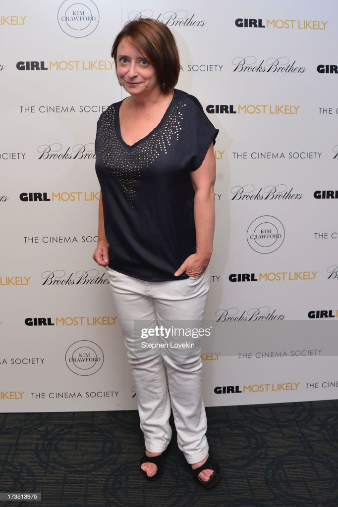 Actress <a gi-track='captionPersonalityLinkClicked' href=/galleries/search?phrase=Rachel+Dratch&family=editorial&specificpeople=209387 ng-click='$event.stopPropagation()'>Rachel Dratch</a> attends the screening of Lionsgate and Roadside Attractions' 'Girl Most Likely' hosted by The Cinema Society & Brooks Brothers at Landmark's Sunshine Cinema on July 15, 2013 in New York City.