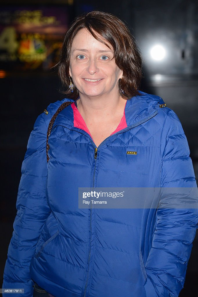 Actress Rachel Dratch enters the 'New York Live' taping at the NBC Rockefeller Center Studios on January 15, 2014 in New York City.