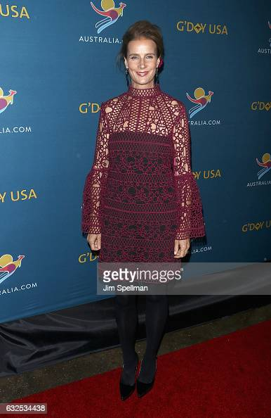 Actress Rachel Griffiths attends a virtual tour of Australia at Hudson Mercantile on January 23 2017 in New York City