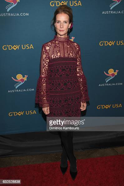 Actress Rachel Griffiths attends a Virtual Tour of Australia in NYC at Hudson Mercantile on January 23 2017 in New York City