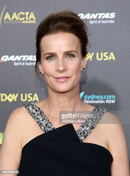 Actress Rachel Griffiths attends the 2015 G'Day USA GALA featuring the AACTA International Awards presented by QANTAS at Hollywood Palladium on...