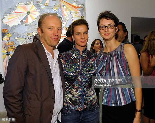 Actress Rachel Griffiths husband Andrew Taylor and gallery owner Honor Fraser attend The Gregory Parkinson Spring Summer 2009 Cocktail Event...