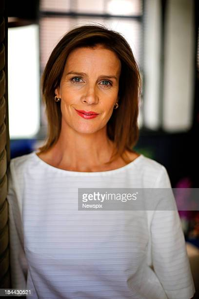 Actress Rachel Griffiths poses during a photo shoot at the QT Hotel on October 9 2013 in Sydney Australia Griffiths is in Sydney to promote her new...
