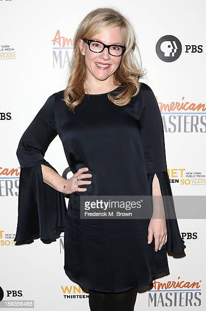 Actress Rachel Harris attends the Premiere Of 'American Masters Inventing David Geffen' at The Writers Guild of America on November 13 2012 in...
