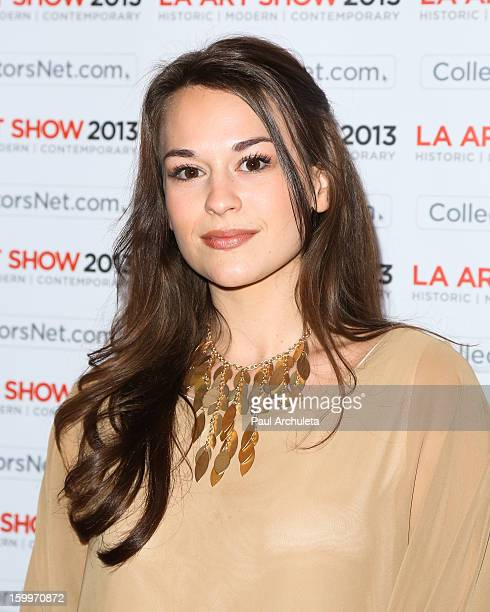 Actress Rachel Hendrix attends the LA Art Show opening night party at Los Angeles Convention Center on January 23 2013 in Los Angeles California