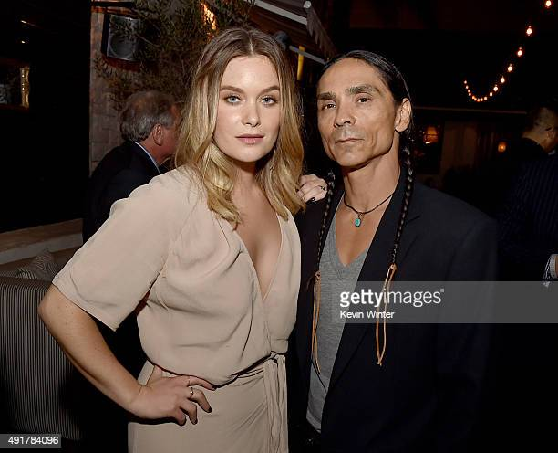 Actress Rachel Keller and actor Zahn McClarnon pose at the after party for the premiere of FX's 'Fargo' Season 2 at Le Jardin in Los Angeles...