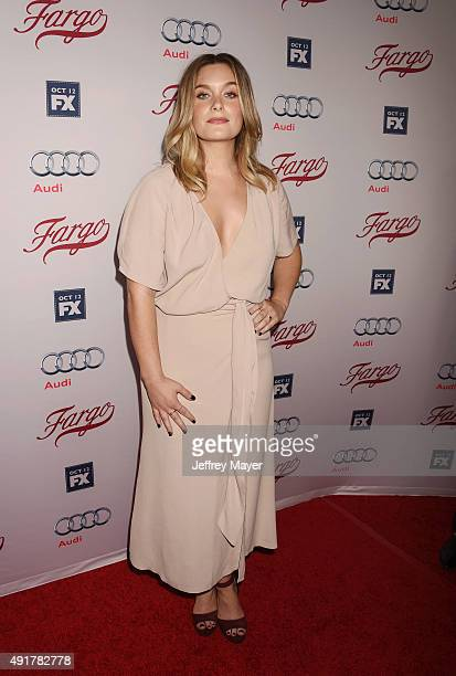 Actress Rachel Keller attends the premiere of FX's 'Fargo' Season 2 held at ArcLight Cinemas on October 7 2015 in Hollywood California