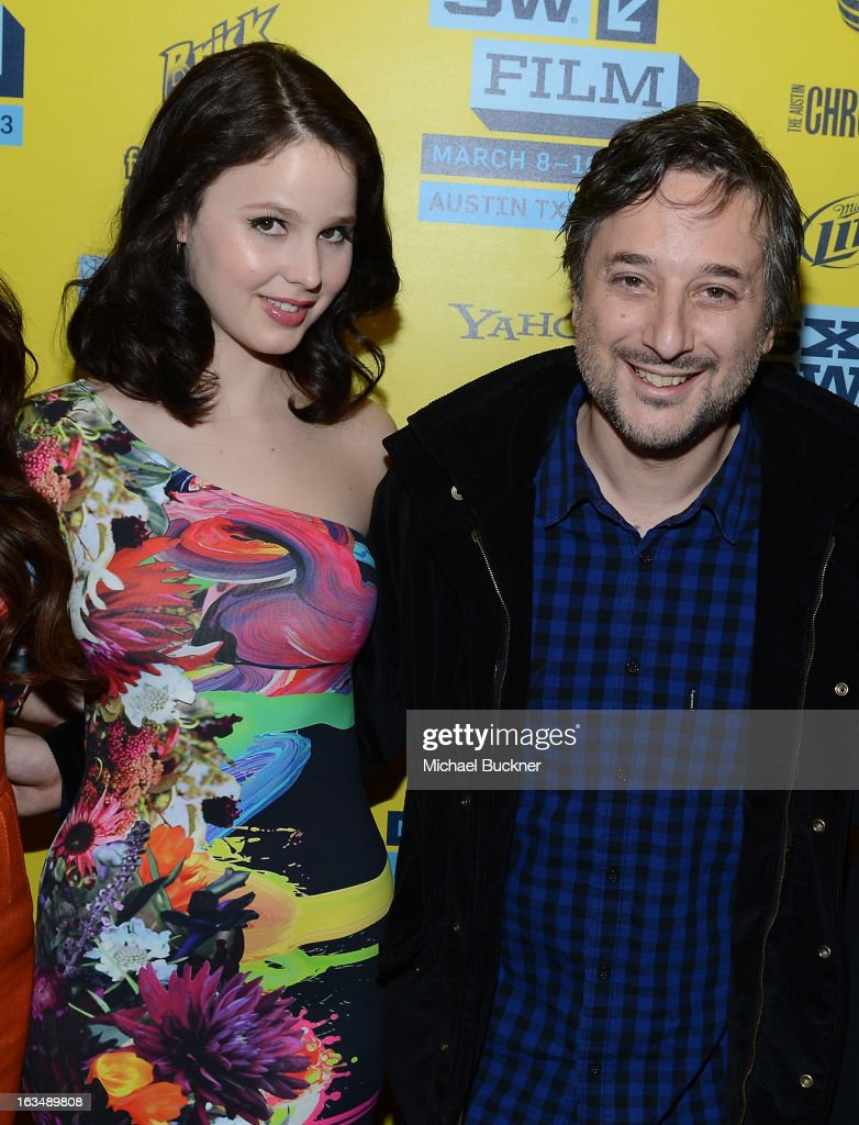 Actress Rachel Korine (L) and director Harmony Korine attend the green room for 'Spring Breakers' during the 2013 SXSW Music, Film + Interactive Festival' at the Paramount Theatre on March 10, 2013 in Austin, Texas.