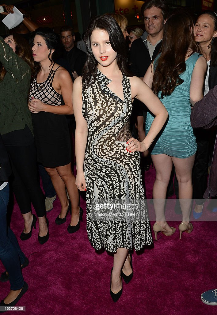 Actress Rachel Korine attends the 'Spring Breakers' premiere at ArcLight Cinemas on March 14, 2013 in Hollywood, California.