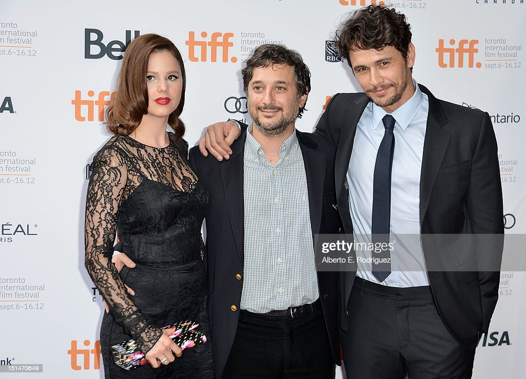 Actress Rachel Korine, writer/director Harmony Korine and actor James Franco attend the'Spring Breakers' premiere during the 2012 Toronto International Film Festival at Ryerson Theatre on September 7, 2012 in Toronto, Canada.