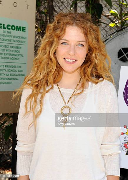 Actress Rachel Lefevre attends the Environmental Media Association and Yes to Carrots Garden Luncheon at The Learning Garden at Venice High School on...