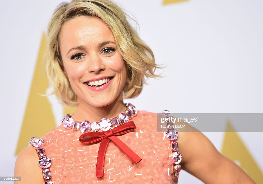 Actress Rachel McAdams arrives at the 88th Oscar Nominees Luncheon in Beverly Hills, California, February 8, 2016. / AFP / ROBYN BECK