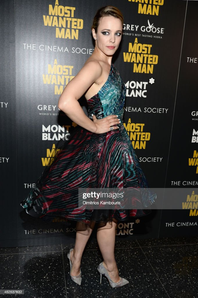 Actress <a gi-track='captionPersonalityLinkClicked' href=/galleries/search?phrase=Rachel+McAdams&family=editorial&specificpeople=212942 ng-click='$event.stopPropagation()'>Rachel McAdams</a> attends Lionsgate and Roadside Attraction's premiere of 'A Most Wanted Man' hosted by The Cinema Society and Montblanc at the Museum of Modern Art on July 22, 2014 in New York City.